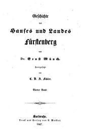 Geschichte des Hauses und Landes Fürstenberg: Band 4