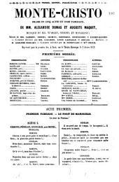 Monte-Christo: drame en cinq actes et onze tableaux