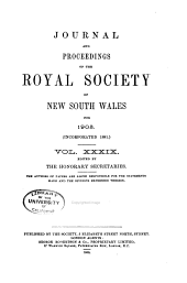 Journal and Proceedings of the Royal Society of New South Wales: Volumes 39-40