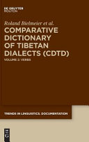 Comparative Dictionary of Tibetan Dialects  CDTD  PDF