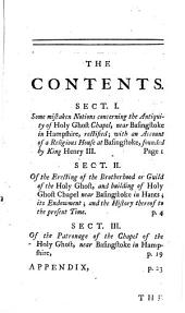 The History of the Brotherhood Or Guild of the Holy Ghost: In the Chapel of the Holy Ghost Near Basingstoke in Hampshire; ...