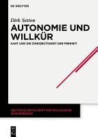 Autonomie und Willk  r PDF
