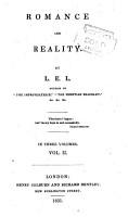 Romance and reality  by L E L  PDF