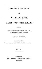 Correspondence of William Pitt: Volume 3