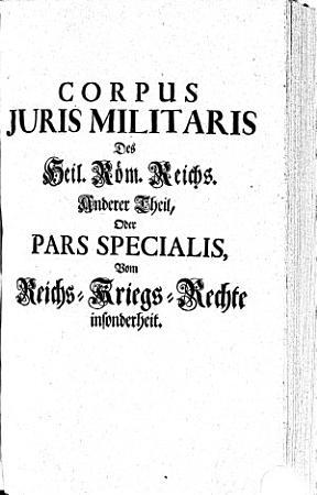 Corpvs Jvris Militaris Des Heil  R  m  Reichs0 PDF