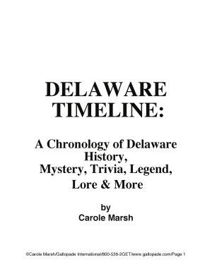 Delaware Timeline