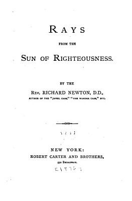 Rays from the Sun of Righteousness PDF