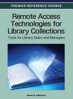 Remote Access Technologies for Library Collections  Tools for Library Users and Managers PDF