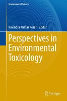 Perspectives in Environmental Toxicology PDF