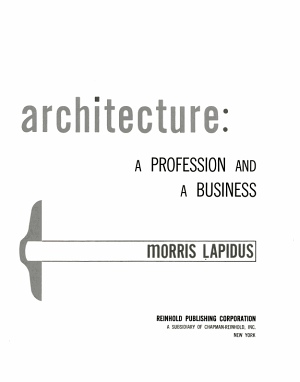 Architecture: a Profession and a Business
