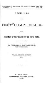 Decisions of the First Comptroller in the Department of the Treasury: Volume 2