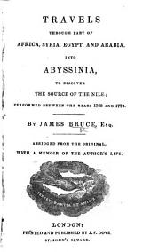 Travels ... into Abyssinia, etc