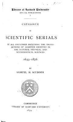 Catalogue of Scientific Serials of All Countries PDF