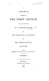 A sermon [on Gen. xxxi. 28] preached ... by ... N. L. F. on the twentieth anniversary of his ordination, etc