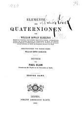 Elemente der quaternionen ...