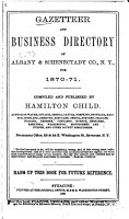 Gazetteer and Business Directory of Albany   Schenectady Co   N Y   for 1870 71 PDF