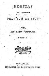 Poesías del Maestro Fray Luis de León