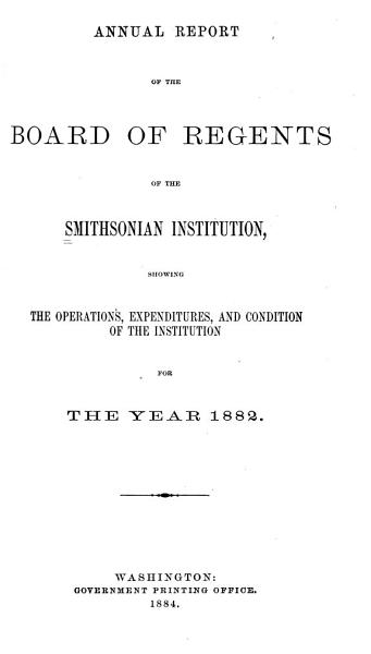 Download Annual Report of the Board of Regents Book