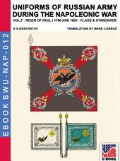 Uniforms of Russian army during the Napoleonic war Vol. 7 - Flags and Standards: Flags and Standards of 1796-1801