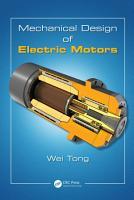Mechanical Design of Electric Motors PDF
