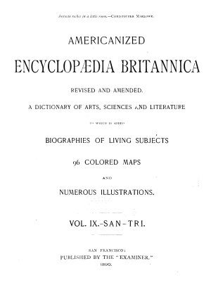 Americanized Encyclopedia Britannica  Revised and Amended