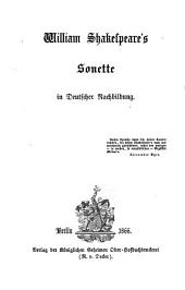 Friedrich Bodenstedt's Gesammelte Schriften gesammt - Ausgabe in zwölf Bänden: William Shakespeare's Sonette in Deutscher Nachbildung, Band 8