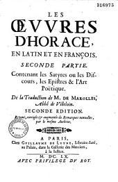 Les Oeuvres d'Horace, latin et françois... de la version de M. de Marolles, abbé de Villeloin
