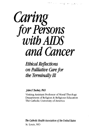 Caring for Persons with AIDS and Cancer
