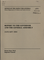 Report to the Governor and the General Assembly PDF