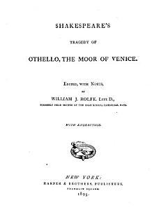 Shakespeare s Othello  the Moor of Venice Book