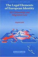 The Legal Elements of European Identity PDF