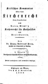 Das allgemeine katholische Kirchen- und Kirchenstaatsrecht: 1