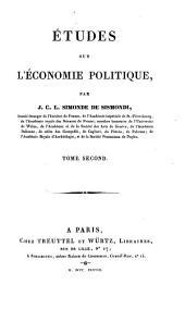 Etudes sur les sciences sociales: Etudes sur l'économie politique