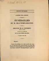 Funérailles de M. Beautemps-Beaupré: discours de M. Duperrey ... le samedi 18 mars 1854