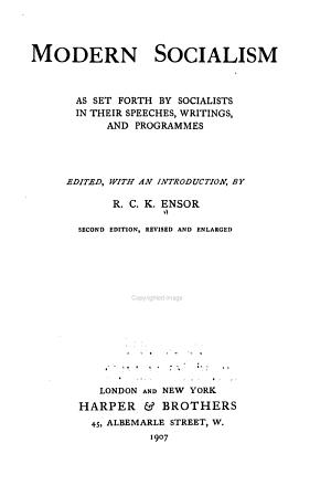 Modern Socialism PDF