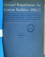 National Requirements for Aviation Facilities, 1956-75
