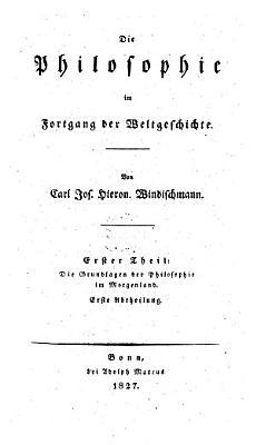 Die Grundlagen der Philosophie im Morgenland   Erste Abtheilung  Erstes Buch  Sina  PDF