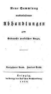 Sammlung auserlesener Abhandlungen zum Gebrauche praktischer Aerzte: Band 143