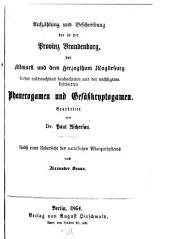 Flora der Provinz Brandenburg, der Altmark und des Herzogthums Magdeburg: Zum gebrauche in schulen und auf excursionen, Teil 1