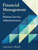 Financial Management for Human Service Administrators PDF