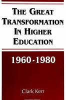 The Great Transformation in Higher Education  1960 1980 PDF