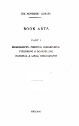 Book Arts  Bibliography  printing  bookbinding  publishing   bookselling  national   local bibliography PDF