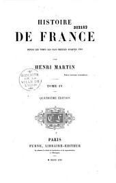 Histoire de France depuis les temps les plus reculés jusqu'en 1789: Volume1