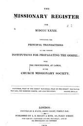 Missionary Register: Volume 20