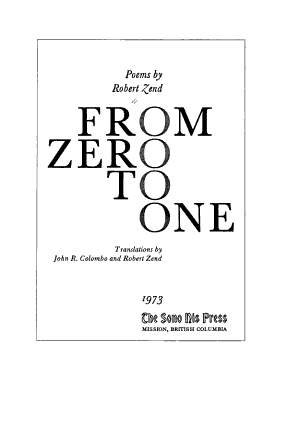 From Zero to One