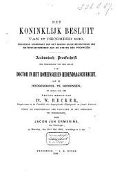 Het Koninklijk besluit van 17 December 1819, houdende overdragt van het beheer en de bekostiging van waterstaatswerken aan de Staten der provinciën