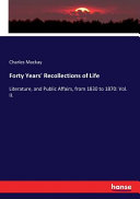 Forty Years  Recollections of Life PDF