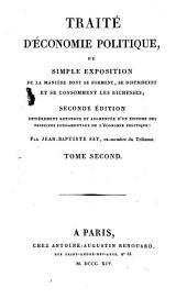 Traité d'économie politique: Volume2