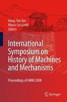 International Symposium on History of Machines and Mechanisms PDF