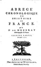 Abrégé chronologique de l'histoire de France: Volume3